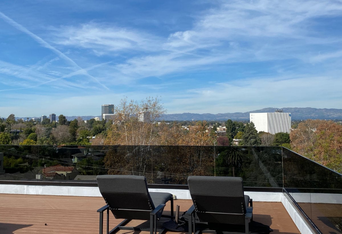 Sherman Oaks View from a roof top