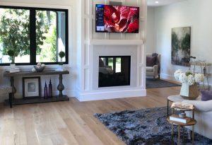 Tarzana Living Room with Fireplace