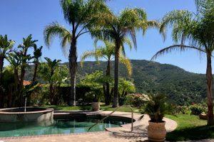 Tarzana Backyard with Pool and Hill View