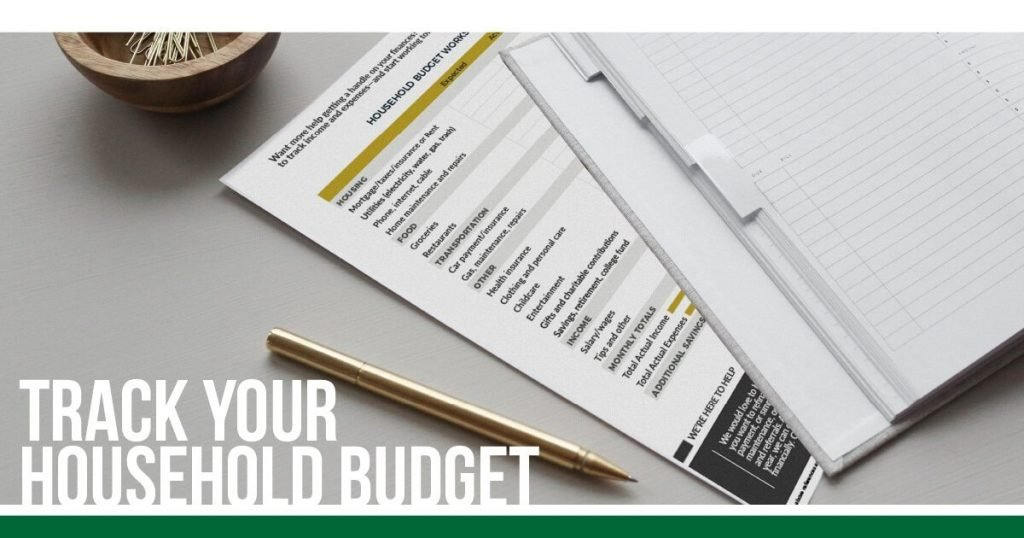 Track your household budget image