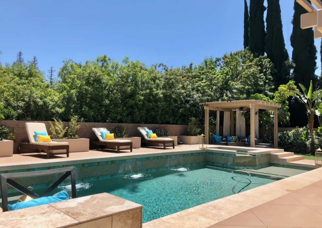 Woodland Hills Backyard with Pool