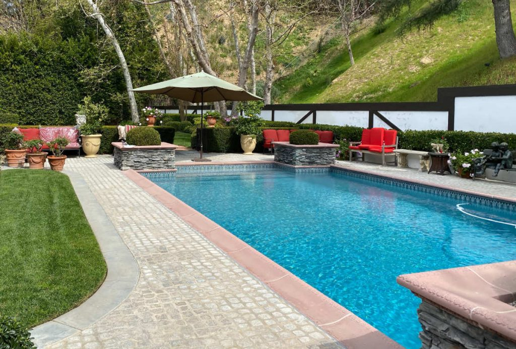Encino backyard with pool