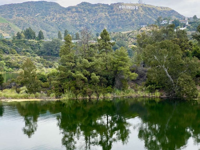 Lake Hollywood with Hollywood Sign 1