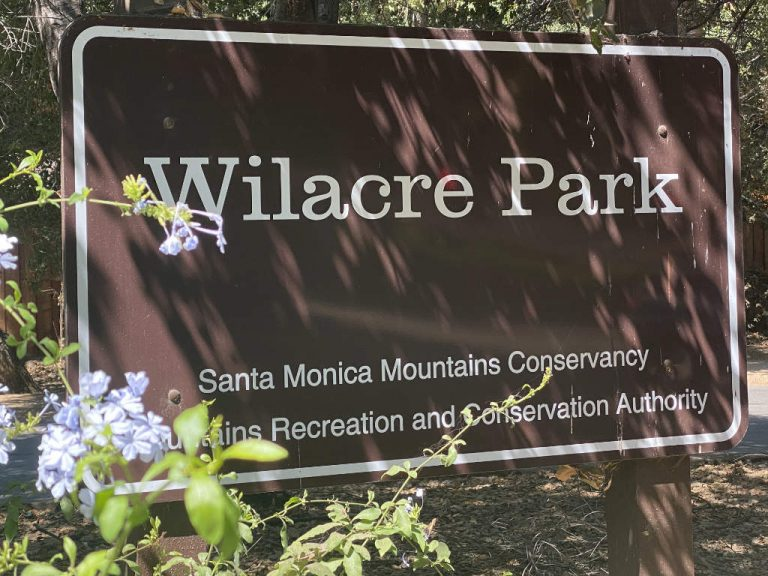 Wilacre Park Entrance Sign