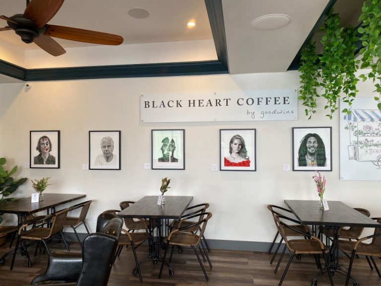 Black Heart Coffee Co-inside eating area