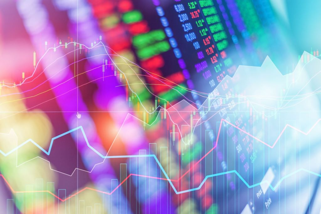 Colorful Stock Market Chart