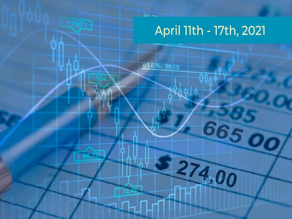 Blue stockmarket charts & tables graphic