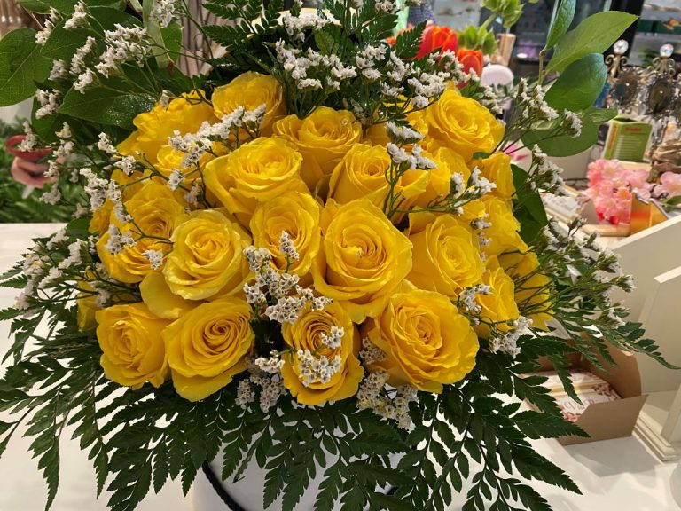 Via Floreal Yellow Roses Bouquet