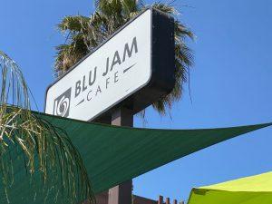 Blu Jam Cafe Sign