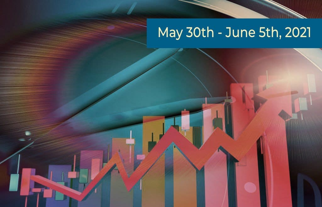 Colorful Stock Market Graphic desaturated