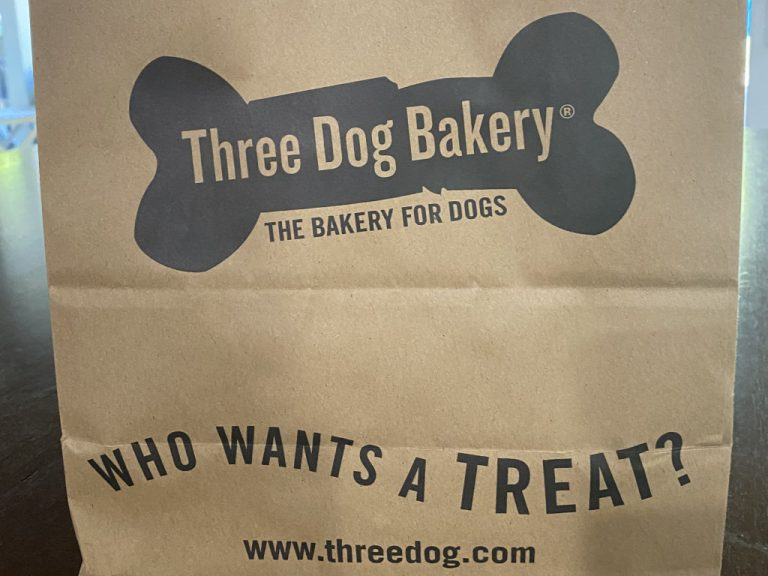 Three Dog Bakery Paper Bag