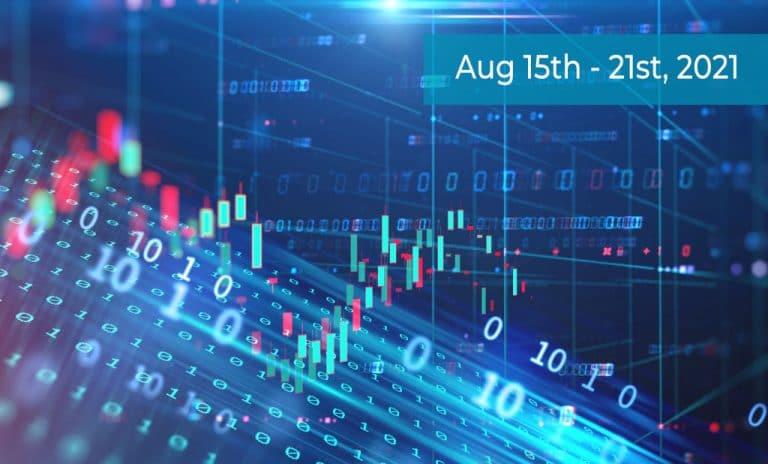Blue Stock Market Chart