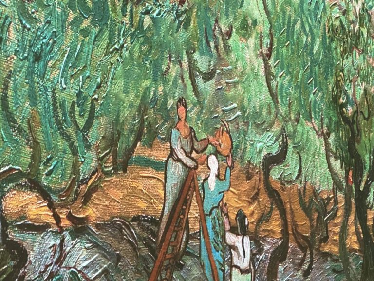Van Gogh painting close up