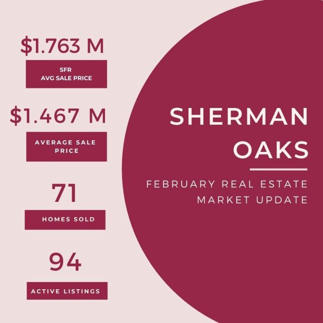 Feb 24 Real Estate update - Sherman Oaks