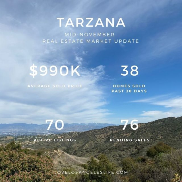 Mid Nov 2020 Tarzana RE Update