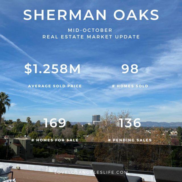 Sherman Oaks Real Estate Update Mid-Oct 2020