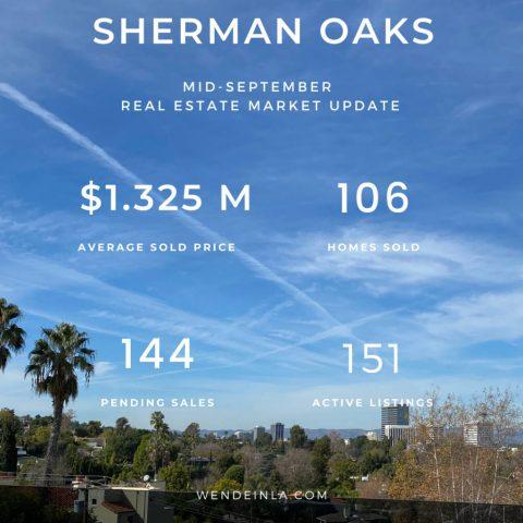 Sherman Oaks Sep 2020 Real Estate Update