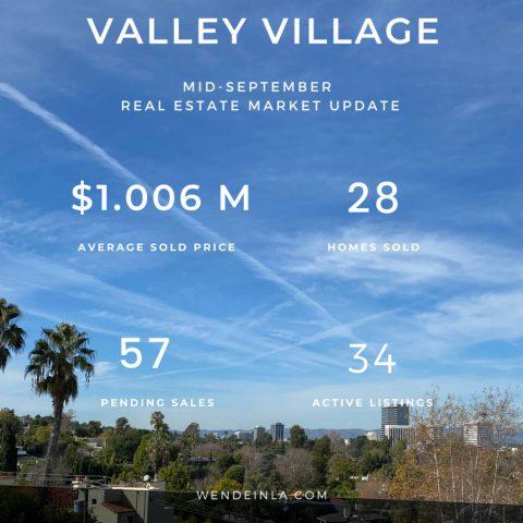 Valley Village Sep 2020 Real Estate Update