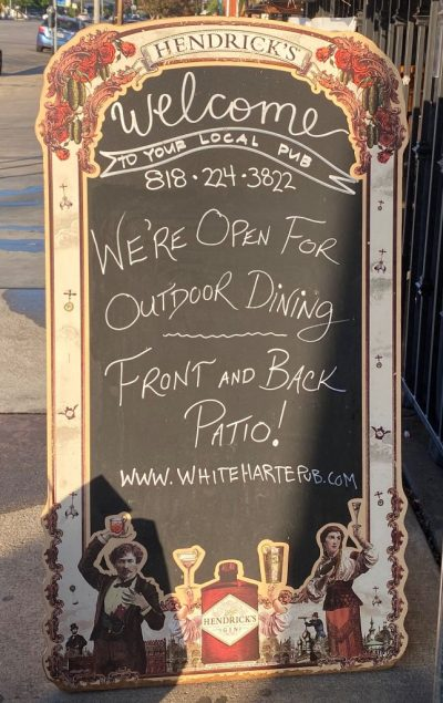 White Harte Welcome Sign